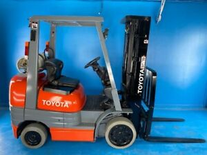 1997 Toyota 42 6fgcu25 Forklift 5000lb 5k 3 Stage Mast W side Shift