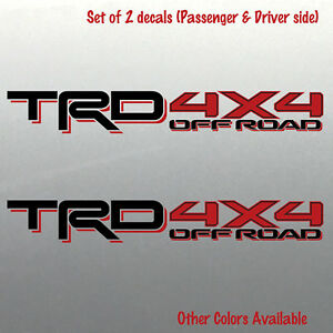 Toyota Tacoma Trd 4x4 Off Road Bed Decal Sticker Tundra Racing Development Sport