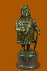 Bronze Sculpture Tribute To Botero Large Girl Museum Quality Masterpiece Decor