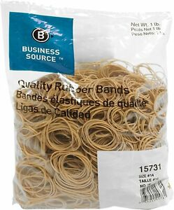 Business Source Quality Rubber Bands Size 14 Bsn 15731 25 Packs 1 Carton