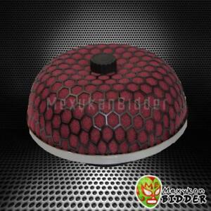 3 76 2 Mm Red Mushroom Style Washable High Flow Mesh Cold Air Intake Filter