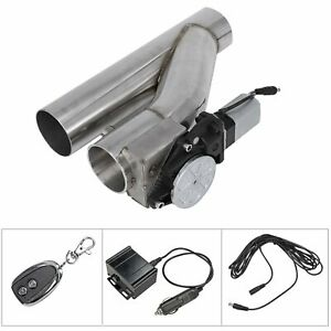 3 Electric Exhaust Downpipe Cutout E Cut Out Valve With Controller Remote Kit