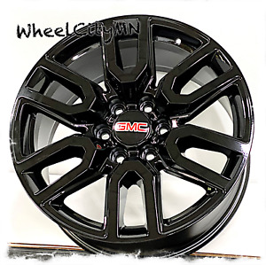 20 Inch Gloss Black 2020 Gmc Sierra 1500 At4 Oe Replica 5909 Wheels Yukon 6x5 5