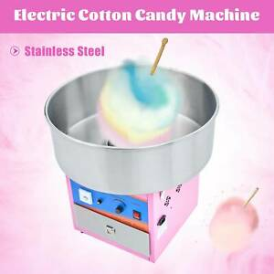 Commercial Cotton Candy Machine Candy Floss Maker Pink Party Carnival Electric