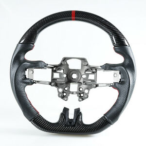 Carbon Fiber Steering Wheel Perforated Leather For Ford Mustang 2019 2020