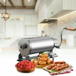 3 6 L Sausage Stuffer Maker Meat Filler Machine Horizontal Sausage Stuffer Maker