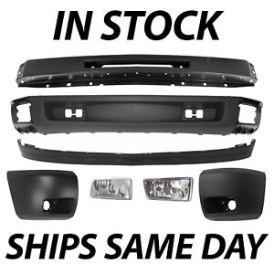 New Complete Front Bumper Face Bar Kit For 2007 2013 Chevy Silverado 1500 W Fog