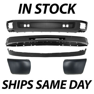 New Steel Front Bumper Face Bar Kit For 2007 2013 Chevy Silverado 1500 Series