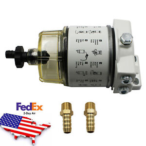 New Fuel Filter Water Separator 120at For R12t Boat Marine Spin on