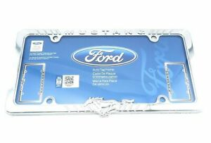 Ford Mustang Chrome Metal Auto Car Tag License Plate Frame