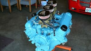 Pontiac 389 Motor With Tri Power 1962 49n Complete And Rebuilt Engine