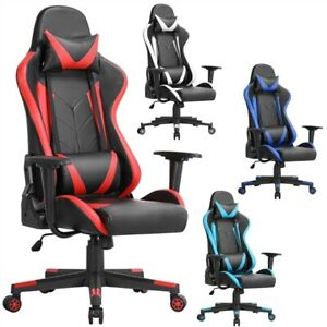 Executive Swivel Leather Gaming Chair Racing Office High back Computer Chair