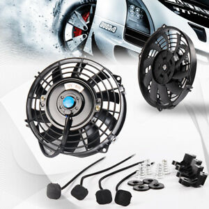 7 Universal Pull Push Racing Electric Engine Cooling Radiator Slim Fan 12 V 80w