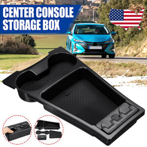 Center Console Organizer Storage Box Cup Holder Tray Case For Toyota Prius 10 15