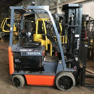 2016 Toyota 8fbcu25 5000lbs Electric Used Forklift W quad Mast Sideshift
