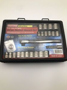 Craftsman 22 Pc Socket Set 3 8 Dr 6 Point Laser Etched Metric Sae 9_45882 Usa