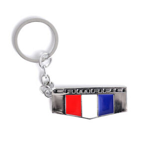 Chrome Both Side Emblem Key Chain Fob Keychain Ring For Chevrolet Camaro Etc