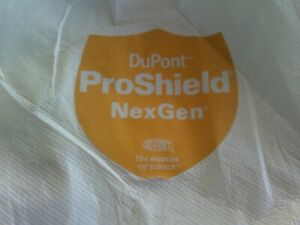 Dupont Pro Shield Tyvek Ty120s Medium Collared Coverall Ppe Full Body Suit