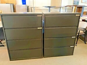 4dr 36 w X 18 d X 50 h Lateral File Cabinet By Herman Miller Meridian W lock