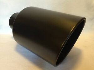 4 Inlet 10 Outlet 18 Long Flat Black Diesel Exhaust Tip Chevy Duramax