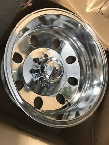 Ion 167 Dually Front 17x6 5 8x6 5 125 3mm Polished Wheel Rim 17 Inch Dodge