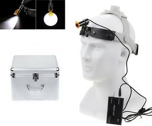 Dental Surgical 5w Led Headlight Lamp With Filter Headband Type Aluminum Box