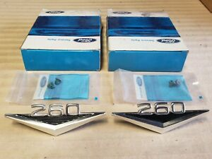 Nos 1964 Ford Falcon Front Fender 260 Emblems Pair
