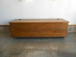 Primitive Antique Wood Blanket Chest W Original Finish