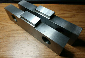 Ground Hardened Steel Step Jaws For Kurt 8 Vises Matched Set 1 985 Width