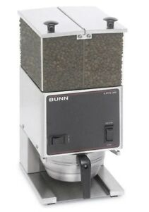 Bunn Lpg2e Low Profile Portion Control Coffee Grinder With 2 Hoppers