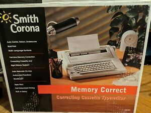 Smith Corona Memory Typewriter Na1hh Correcting Works Cassette Original Box