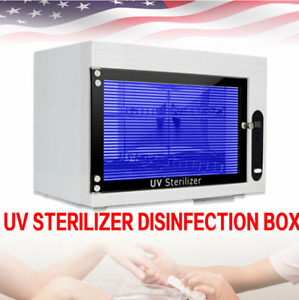 Nail Sterilizer Cleaner Box Disinfecting Machine Tool Uv Disinfection Cabinet Us