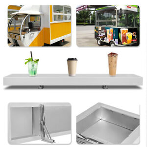 Food Truck Window Tabletop 4 Feet Concession Shelf Concession Stand Shelf 4 Ft