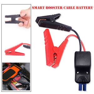 Car Jump Starter Smart Booster Cable Battery With Alligator Clamp Led Indicator