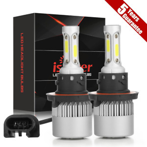 2x H13 9008 Led Headlight Bulb Fit For Ford F 150 2004 2014 High Low Beam 6000k