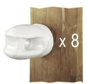 8 dare 2 Porcelain Screw In Wood Post Electric Fence Wire Insulator 2799 25