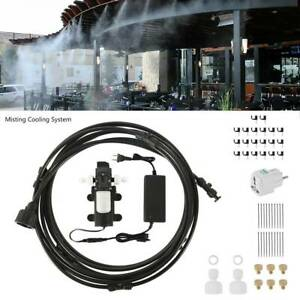6m Misting Cool System High Pressure Nozzles Kit Booster Pump Power Supply