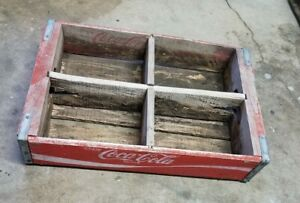 Vintage Genuine Coca Cola Wood Crate KEENAN'S BEVERAGES North Platte Nebraska