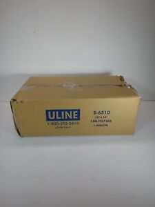 1000 Uline 12 X 15 Poly Bags S 6310 Lay Flat Open Top Packing Best 1 Mil