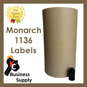 Labels For Monarch 1136 Two Line Price Gun Tan Ink Roller Included