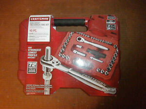 New Craftsman Max Axess 41 Pc Mechanics Tool Set With 72 Teeth Ratchet 41484