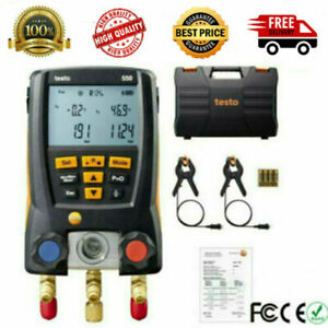 Testo 550 Refrigeration Digital Manifold Kit 0563 1550 Clamp Probes