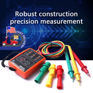 Us 3 Phase Sequence Rotation Tester Indicator Detector Meter Led Buzzer Tool Kit