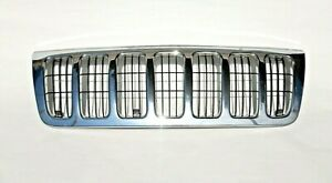 Jeep Grand Cherokee Wj 99 03 Chrome Front Grille Grill With Inserts
