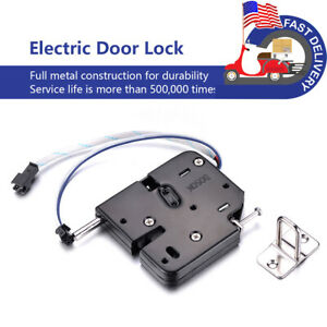 Us Vending Electromagnetic Electric Lock Release Rim Mortice Strike Door Cabinet