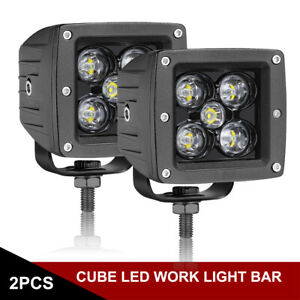 2x 3 inch 120w Led Work Lights Cube Pods Spot Beam Offroad Suv 4wd Driving Lamps