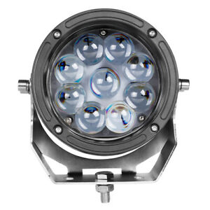 6 Inch Cree Round Led Work Driving Light Spot Fog 6000k Suv Bar Offroad Atv Utv