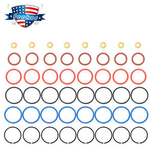 8 Kit Diesel Fuel Injector O ring Seals Fit For 1994 2003 Ford Powerstroke 7 3l