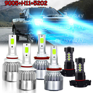 Ice Blue 9005 h11 5202 Led Headlight Fog Light Bulb For Chevy Tahoe 07 10 12 14