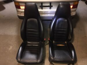 1987 Porsche 944 Na turbo Leather Seats Black Oem With Seat Tracks Power Drivers